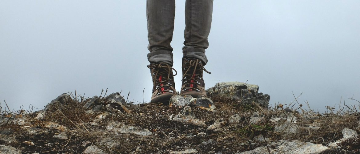 a photo of hiking boots