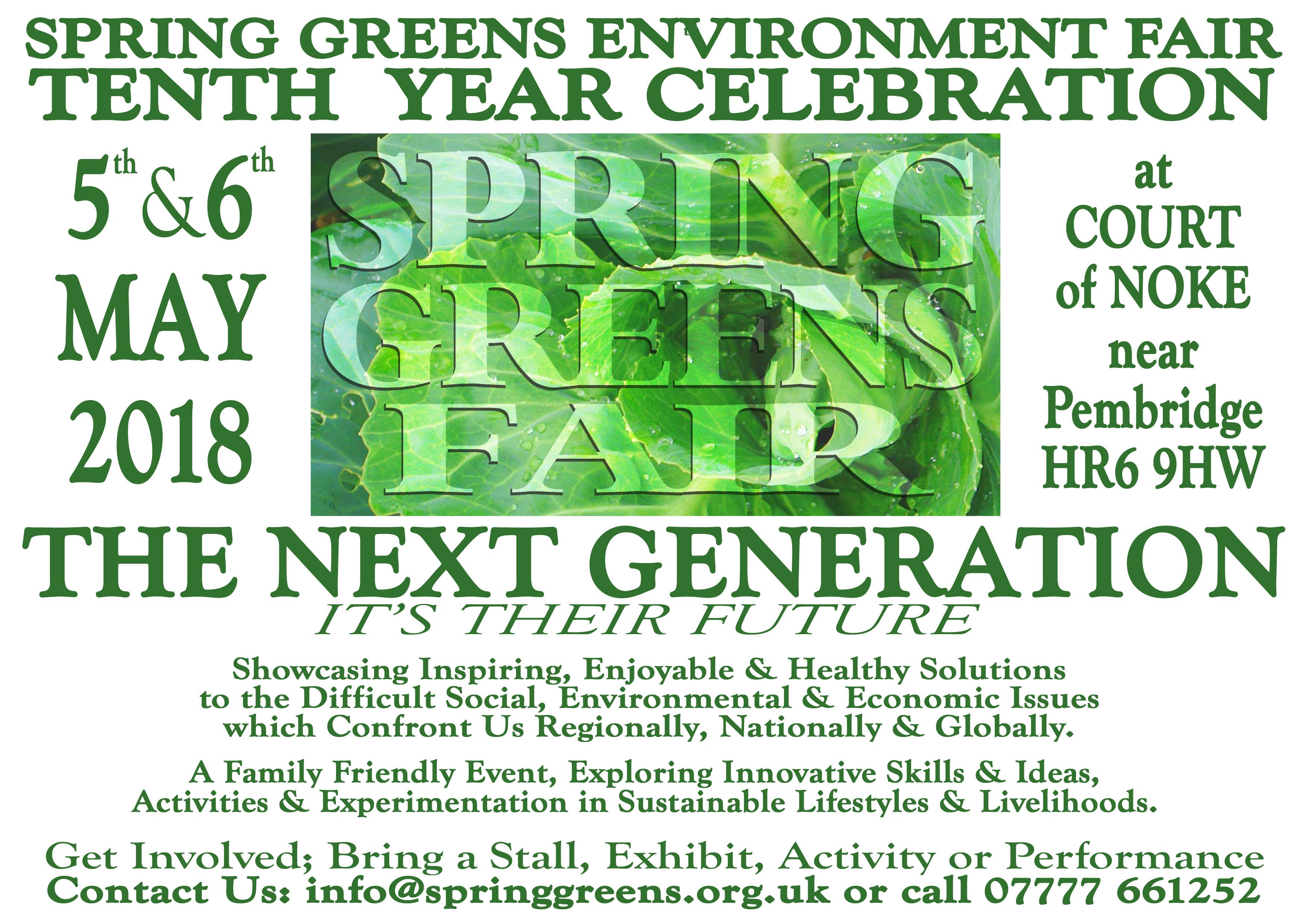 SPRING GREENS Environment Fair 2018
