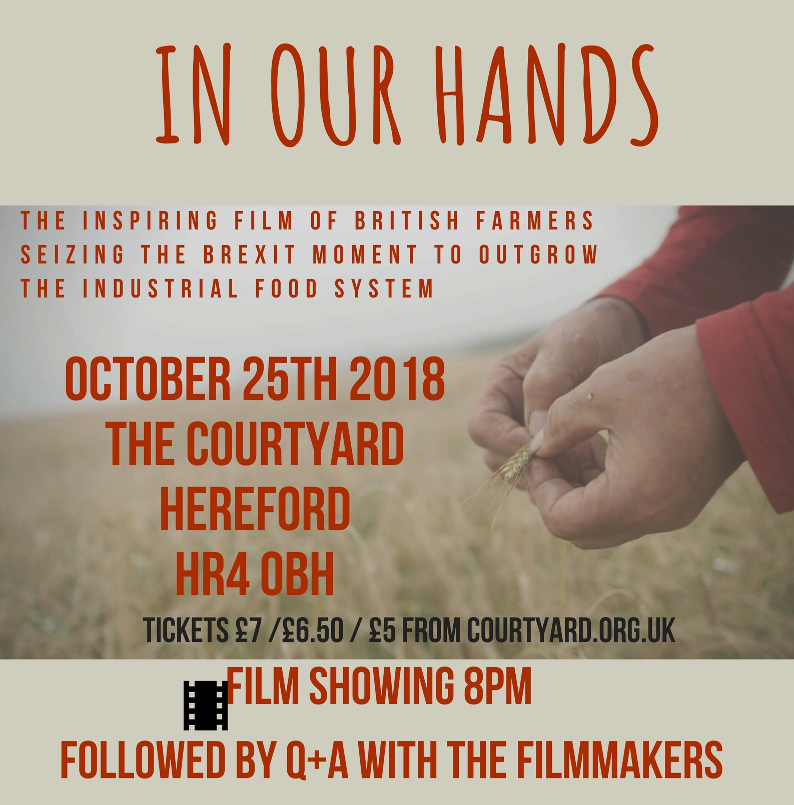 "Film ""In our Hands- Seeding Change"" – 25 Oct"