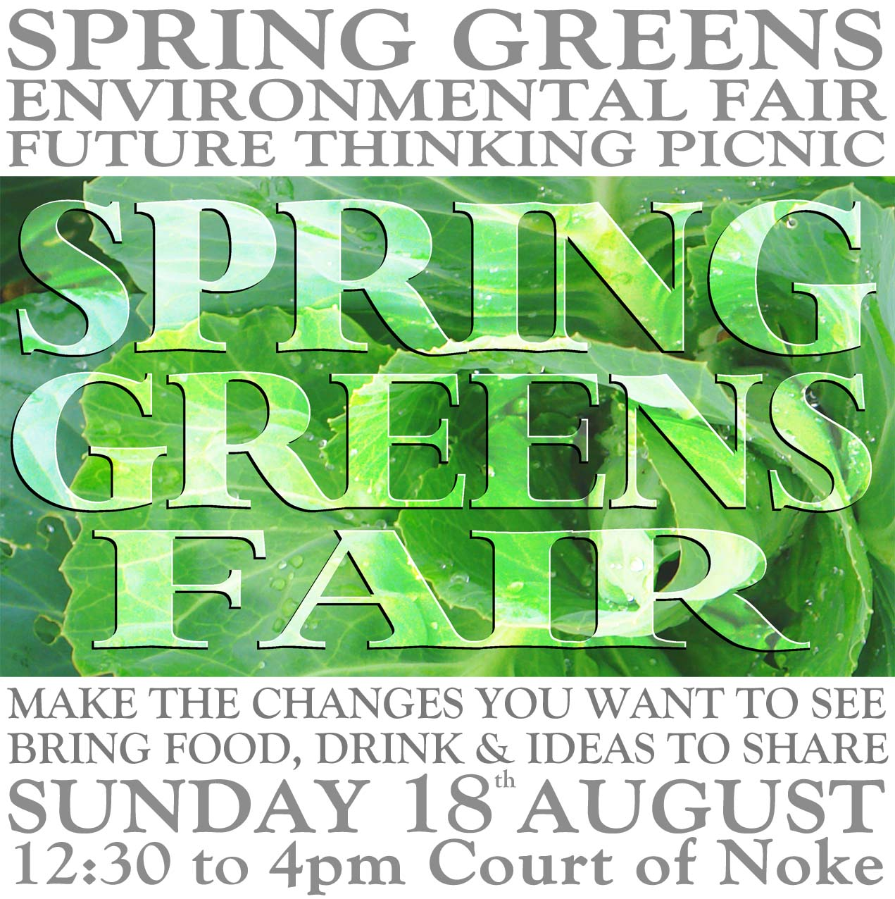 A Future Thinking Picnic for Spring Greens